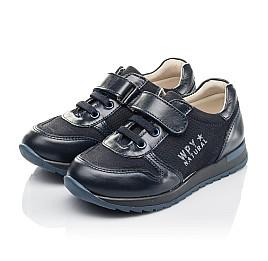 Детские кроссовки Woopy Orthopedic синие для мальчиков натуральная кожа и нубук размер 26-35 (4287) Фото 3