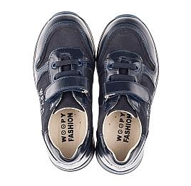 Детские кроссовки Woopy Orthopedic синие для мальчиков натуральная кожа и нубук размер 26-35 (4287) Фото 5