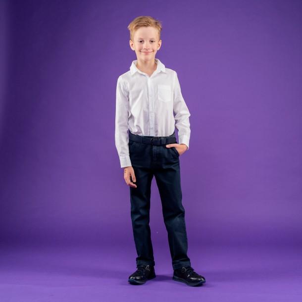 Мальчик обут в детские кроссовки Woopy Orthopedic синие (4287) Фото 1