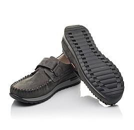 Детские туфли Woopy Orthopedic серые для мальчиков натуральный нубук размер 32-39 (4288) Фото 2