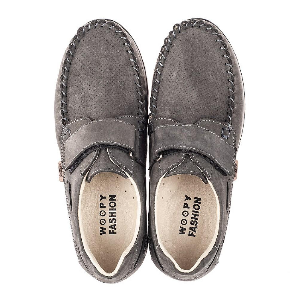 Детские туфли Woopy Orthopedic серые для мальчиков натуральный нубук размер 32-39 (4288) Фото 5