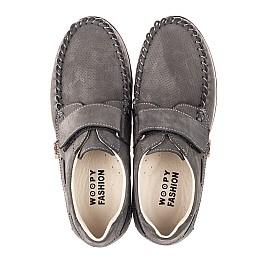 Детские туфлі Woopy Orthopedic серые для мальчиков натуральный нубук размер 33-37 (4288) Фото 5