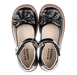 Детские туфлі Woopy Fashion черные для девочек натуральная лаковая кожа размер 29-36 (4289) Фото 5