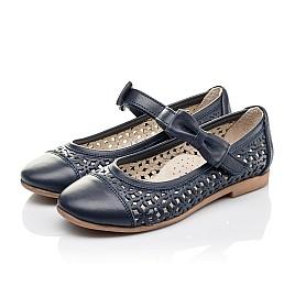 Детские туфли Woopy Fashion синие для девочек натуральная кожа размер 28-36 (4290) Фото 3