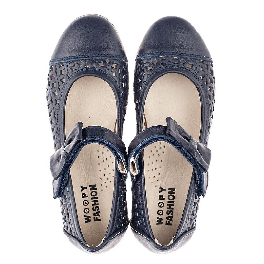 Детские туфли Woopy Fashion синие для девочек натуральная кожа размер 28-36 (4290) Фото 5