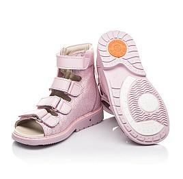 Детские ортопедические босоножки (с высоким берцем) Woopy Fashion розовые для девочек натуральная кожа размер 21-33 (4291) Фото 2