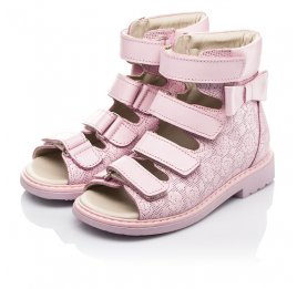 Детские ортопедичні босоніжки (з високим берцями) Woopy Fashion розовые для девочек натуральная кожа размер 21-33 (4291) Фото 3