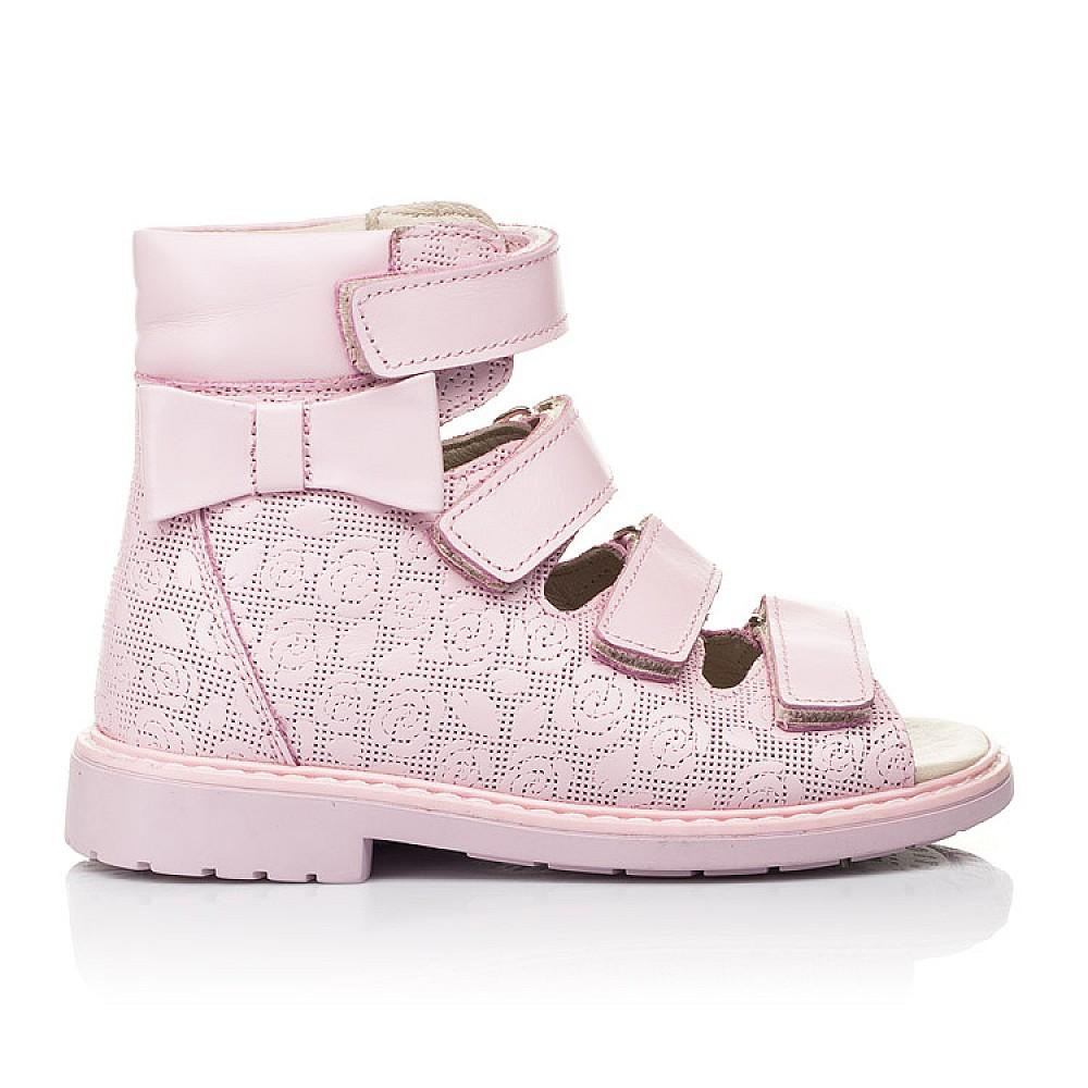 Детские ортопедические босоножки (с высоким берцем) Woopy Fashion розовые для девочек натуральная кожа размер 21-33 (4291) Фото 4