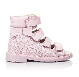 Детские ортопедичні босоніжки (з високим берцями) Woopy Fashion розовые для девочек натуральная кожа размер 21-33 (4291) Фото 4