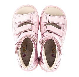 Детские ортопедичні босоніжки (з високим берцями) Woopy Fashion розовые для девочек натуральная кожа размер 21-33 (4291) Фото 5