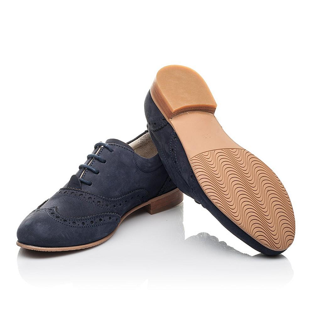 Детские туфли (шнурок резинка) Woopy Fashion синие для девочек натуральный нубук размер 32-37 (4292) Фото 2