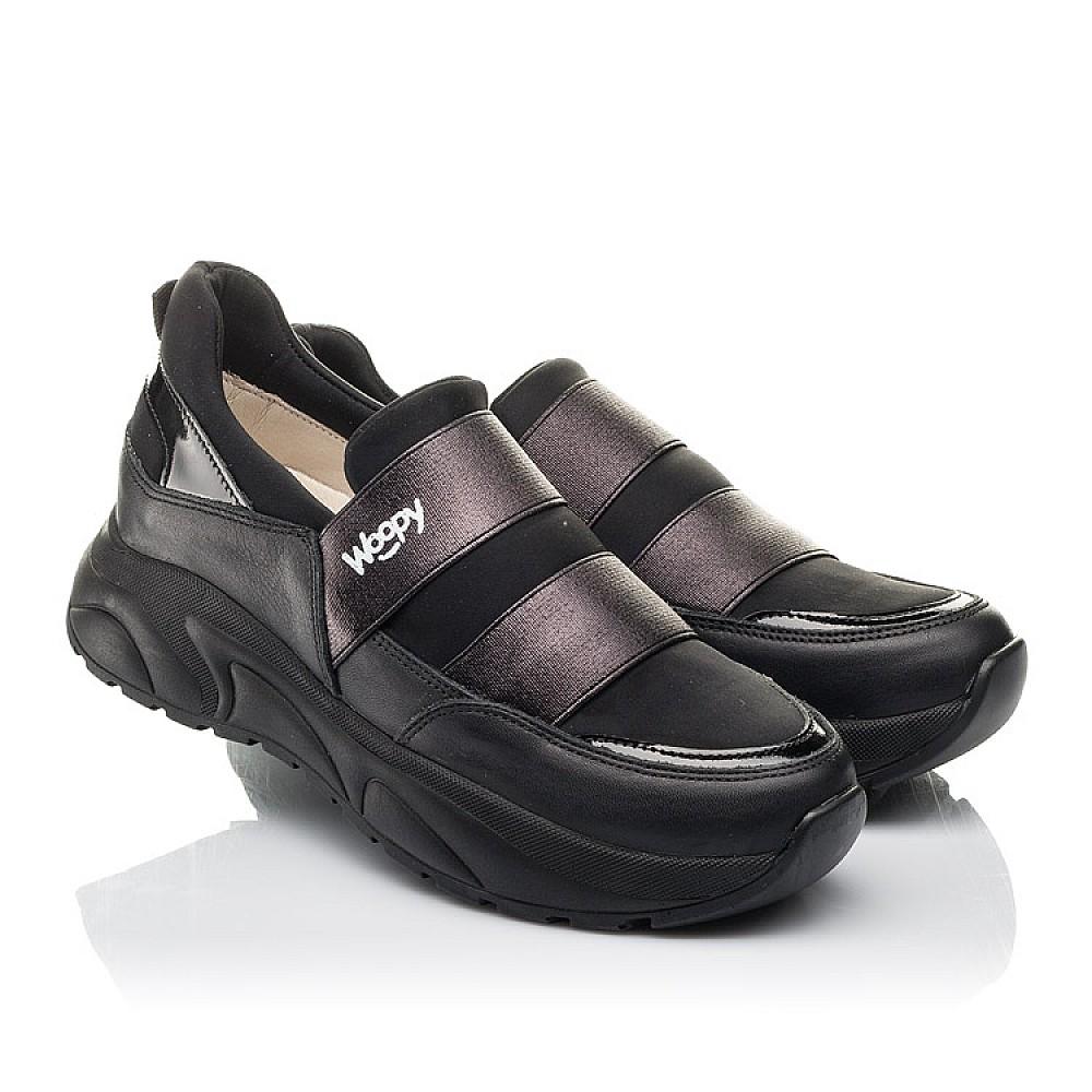 Детские кроссовки Woopy Fashion черные для девочек натуральная кожа, искусственный материал размер 33-40 (4293) Фото 1