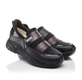 Детские кроссовки Woopy Fashion черные для девочек натуральная кожа, искусственный материал  размер 36-40 (4293) Фото 1