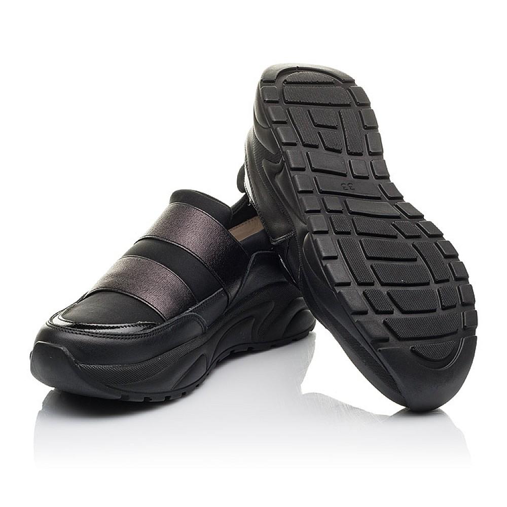 Детские кроссовки Woopy Fashion черные для девочек натуральная кожа, искусственный материал размер 33-40 (4293) Фото 2