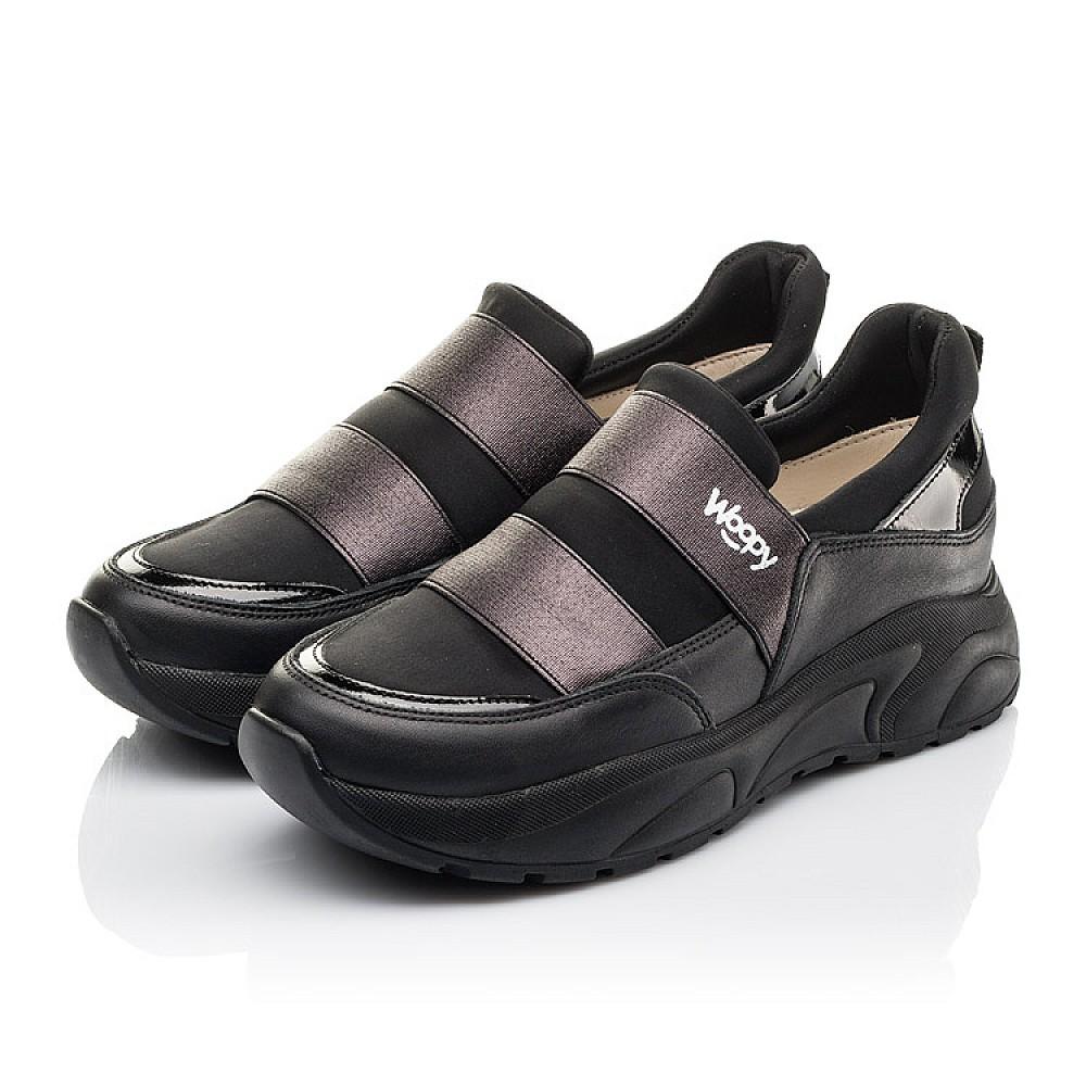 Детские кроссовки Woopy Fashion черные для девочек натуральная кожа, искусственный материал размер 33-40 (4293) Фото 3