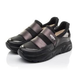 Детские кроссовки Woopy Fashion черные для девочек натуральная кожа, искусственный материал  размер 36-40 (4293) Фото 3