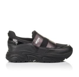 Детские кроссовки Woopy Fashion черные для девочек натуральная кожа, искусственный материал  размер 36-40 (4293) Фото 4