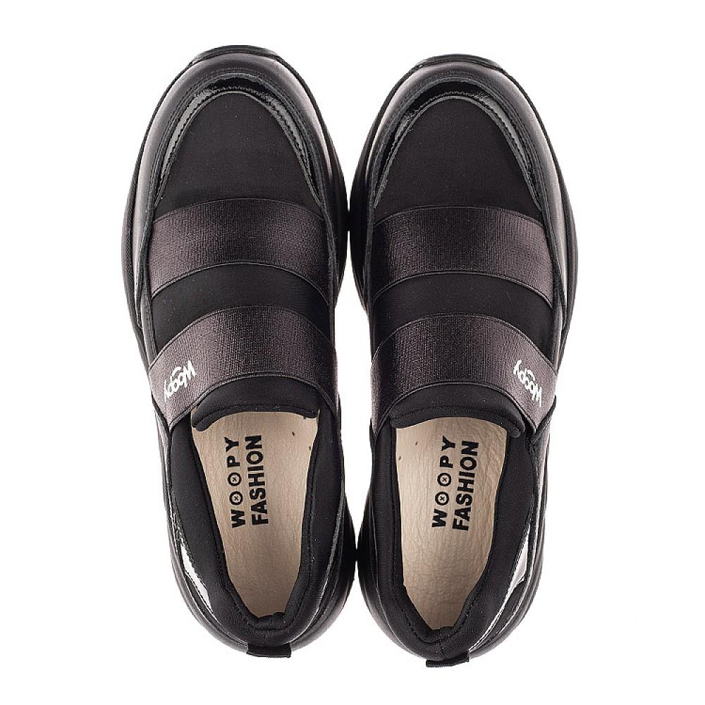 Детские кроссовки Woopy Fashion черные для девочек натуральная кожа, искусственный материал размер 33-40 (4293) Фото 5