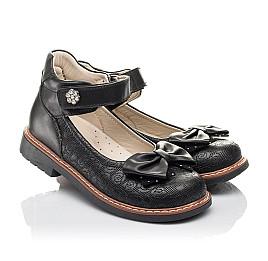 Детские туфли Woopy Fashion черные для девочек натуральная кожа размер 29-34 (4294) Фото 1