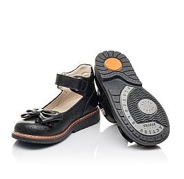 Детские туфли Woopy Fashion черные для девочек натуральная кожа размер 29-34 (4294) Фото 2