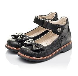 Детские туфли Woopy Fashion черные для девочек натуральная кожа размер 29-34 (4294) Фото 3