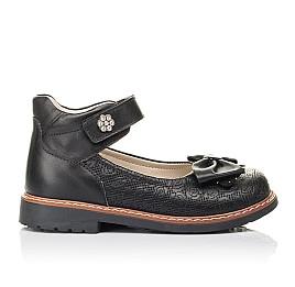 Детские туфли Woopy Fashion черные для девочек натуральная кожа размер 29-34 (4294) Фото 4