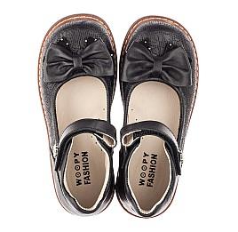 Детские туфли Woopy Fashion черные для девочек натуральная кожа размер 29-34 (4294) Фото 5