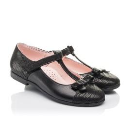 Детские туфли Woopy Orthopedic черные для девочек натуральная кожа и нубук размер 30-38 (4295) Фото 1