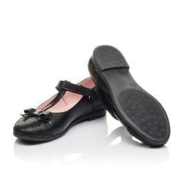Детские туфли Woopy Orthopedic черные для девочек натуральная кожа и нубук размер 30-38 (4295) Фото 2