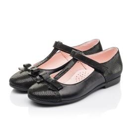 Детские туфли Woopy Orthopedic черные для девочек натуральная кожа и нубук размер 30-38 (4295) Фото 3