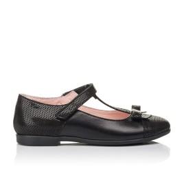 Детские туфли Woopy Orthopedic черные для девочек натуральная кожа и нубук размер 30-38 (4295) Фото 4