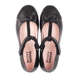 Детские туфли Woopy Orthopedic черные для девочек натуральная кожа и нубук размер 30-38 (4295) Фото 5