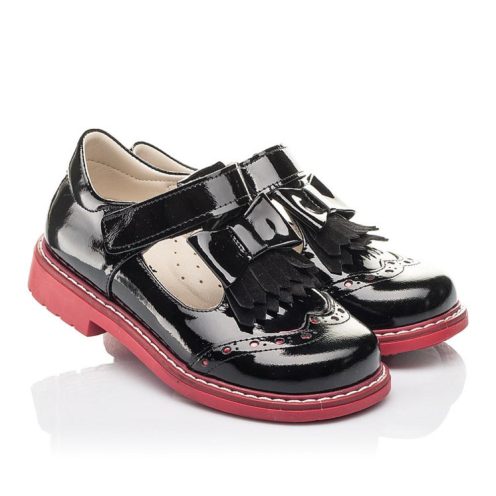Детские туфли Woopy Fashion черные для девочек натуральная лаковая кожа размер 25-33 (4296) Фото 1