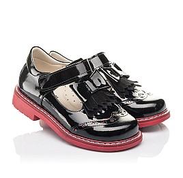 Детские туфли Woopy Fashion черные для девочек натуральная лаковая кожа размер 27-33 (4296) Фото 1