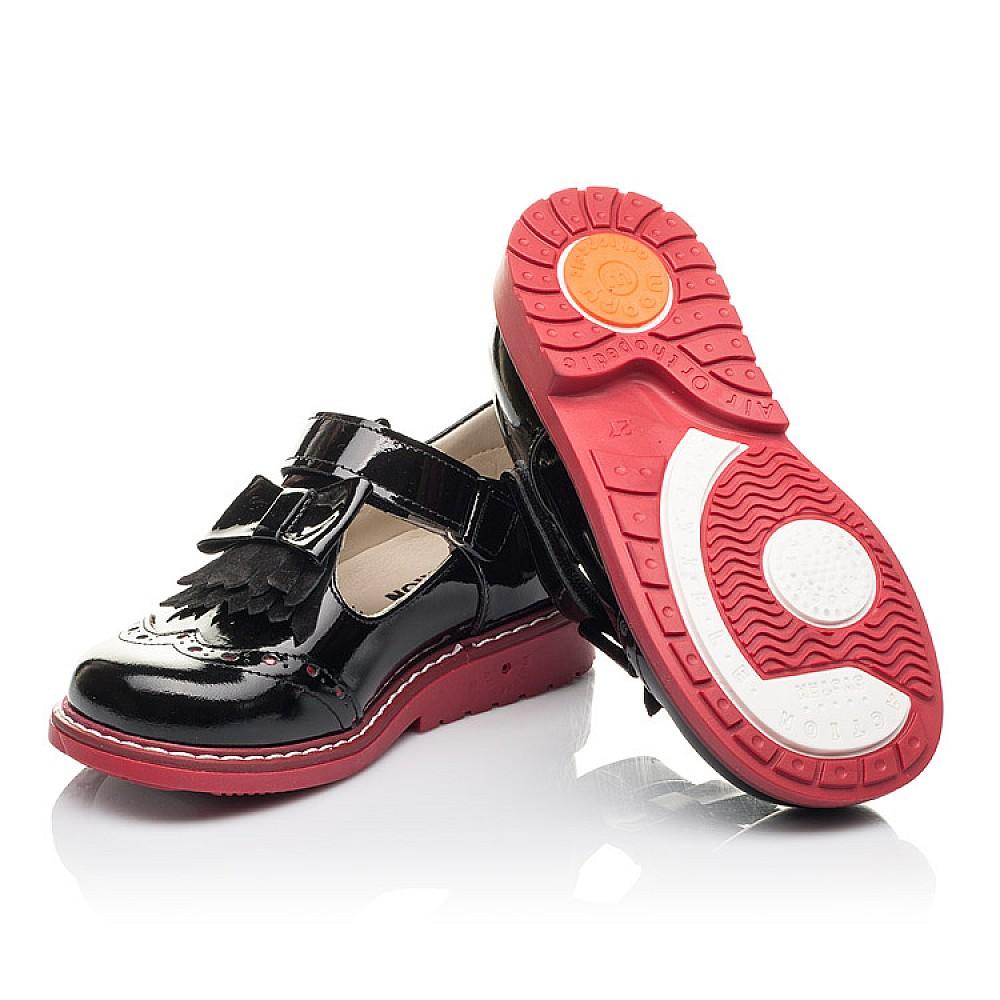 Детские туфли Woopy Fashion черные для девочек натуральная лаковая кожа размер 25-30 (4296) Фото 2