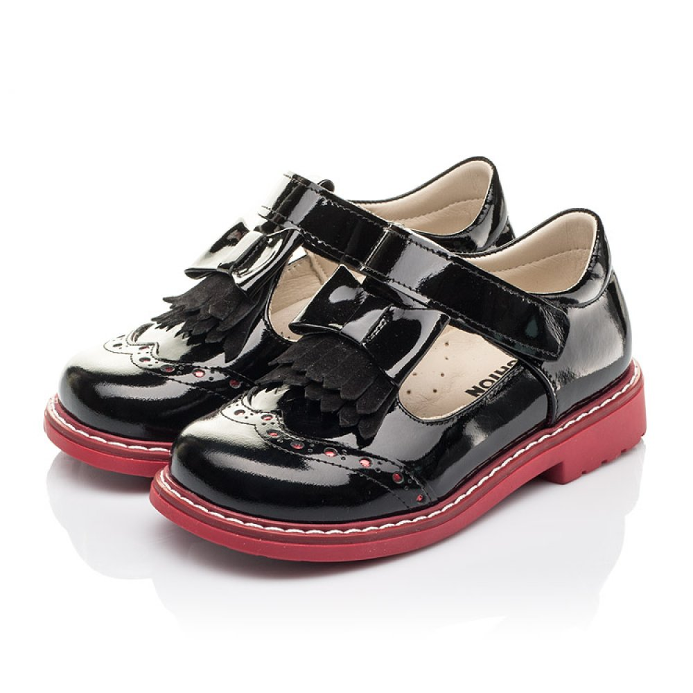 Детские туфли Woopy Fashion черные для девочек натуральная лаковая кожа размер 25-30 (4296) Фото 3