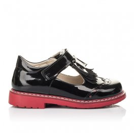 Детские туфли Woopy Fashion черные для девочек натуральная лаковая кожа размер 27-33 (4296) Фото 4