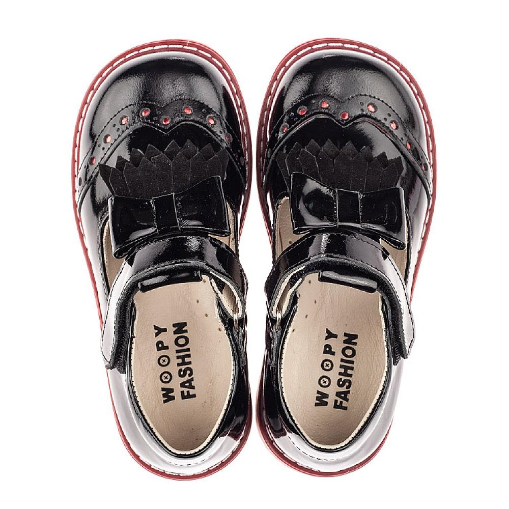 Детские туфли Woopy Fashion черные для девочек натуральная лаковая кожа размер 25-30 (4296) Фото 5