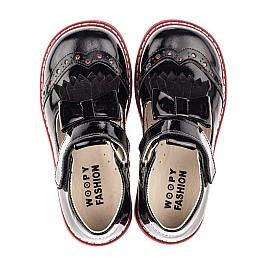 Детские туфли Woopy Fashion черные для девочек натуральная лаковая кожа размер 27-33 (4296) Фото 5
