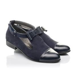Детские туфли Woopy Fashion синие для девочек натуральная кожа, нубук размер 32-39 (4297) Фото 1
