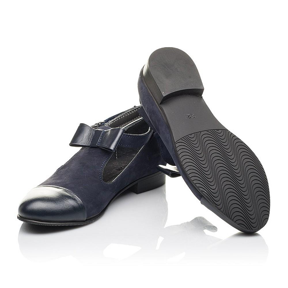 Детские туфли Woopy Fashion синие для девочек натуральная кожа, нубук размер 32-39 (4297) Фото 2