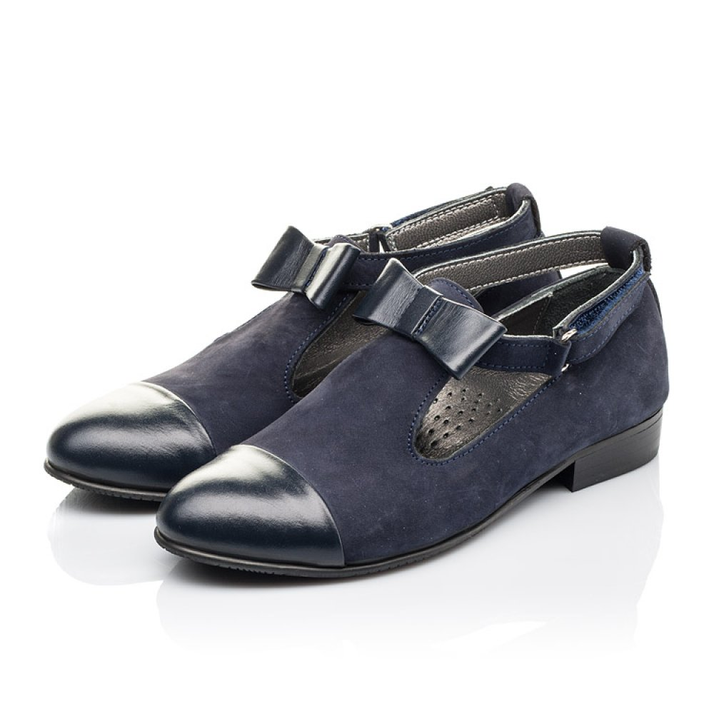 Детские туфли Woopy Fashion синие для девочек натуральная кожа, нубук размер 32-39 (4297) Фото 3