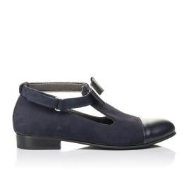 Детские туфли Woopy Fashion синие для девочек натуральная кожа, нубук размер 32-39 (4297) Фото 4