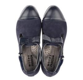 Детские туфли Woopy Fashion синие для девочек натуральная кожа, нубук размер 32-39 (4297) Фото 5