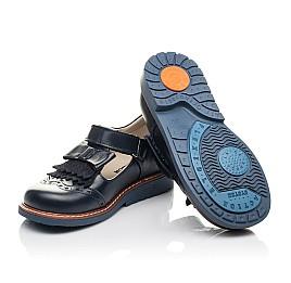 Детские туфли Woopy Fashion синие для девочек натуральная кожа размер 30-33 (4298) Фото 2