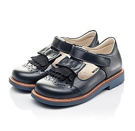 Детские туфли Woopy Fashion синие для девочек натуральная кожа размер 30-33 (4298) Фото 3