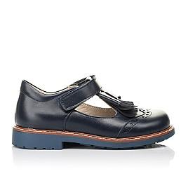 Детские туфли Woopy Fashion синие для девочек натуральная кожа размер 30-33 (4298) Фото 4