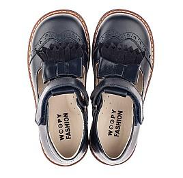 Детские туфли Woopy Fashion синие для девочек натуральная кожа размер 30-33 (4298) Фото 5