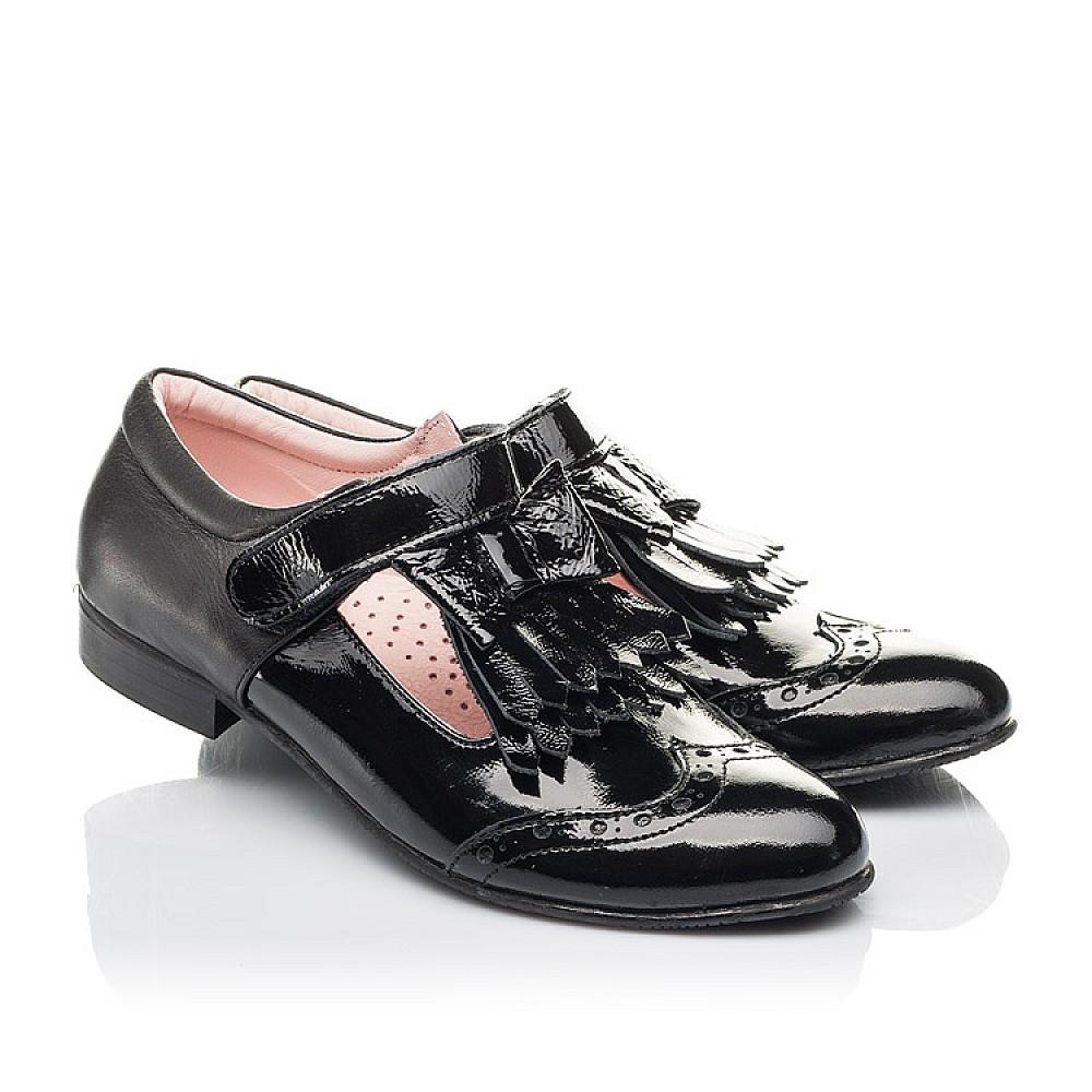 Детские туфли Woopy Fashion черные для девочек натуральная лаковая кожа размер 33-39 (4299) Фото 1