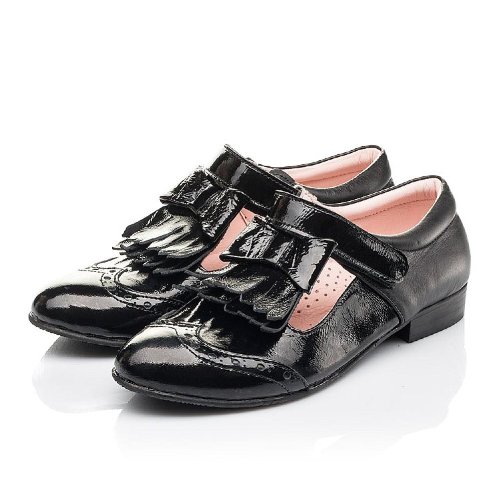Детские туфли Woopy Fashion черные для девочек натуральная лаковая кожа размер 33-39 (4299) Фото 3